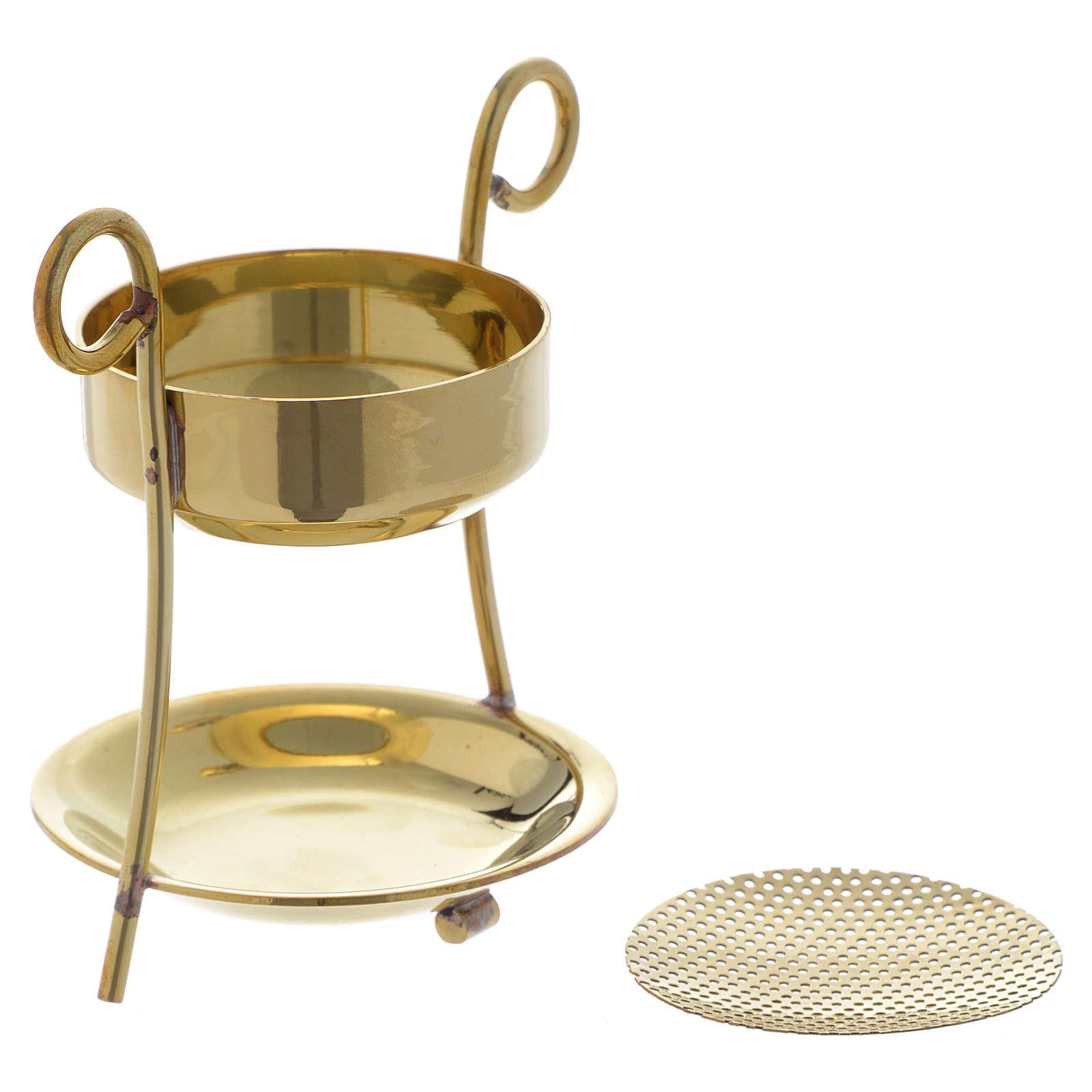 Brûle-encens simple laiton doré 3