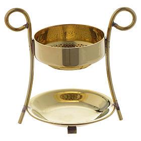 Brûle-encens simple laiton doré s1