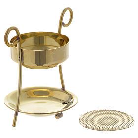 Brûle-encens simple laiton doré s2