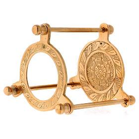 Räucherschale Dreifuss vergoldeten Messing 10cm s3