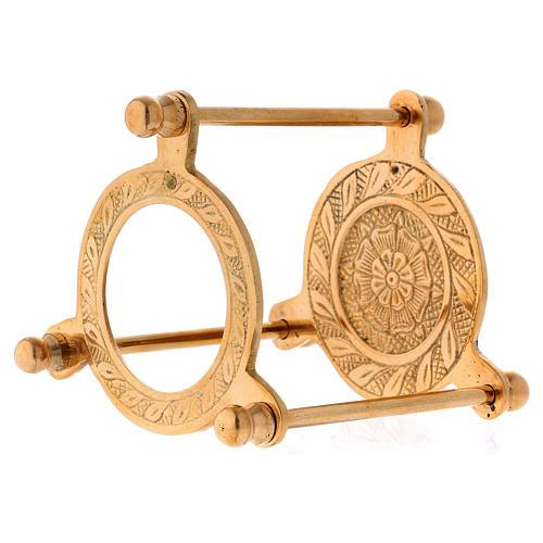 Räucherschale Dreifuss vergoldeten Messing 10cm 3