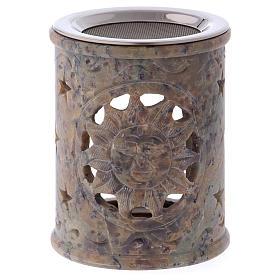 Queimadores de Incenso: Queimador incenso em pedra-sabão cor de areia marmoreada