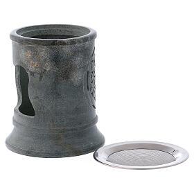 Incense burner in grey soapstone s3