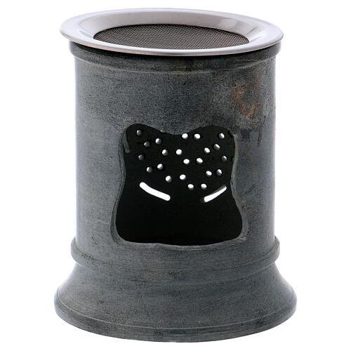 Incense burner in grey soapstone 2