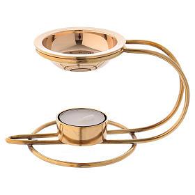 Queimadores de Incenso: Queimador incenso latão dourado 10 cm