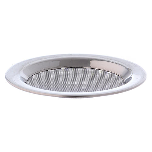 Mesh for incense burner in silver-plated steel diam. 8 cm 1
