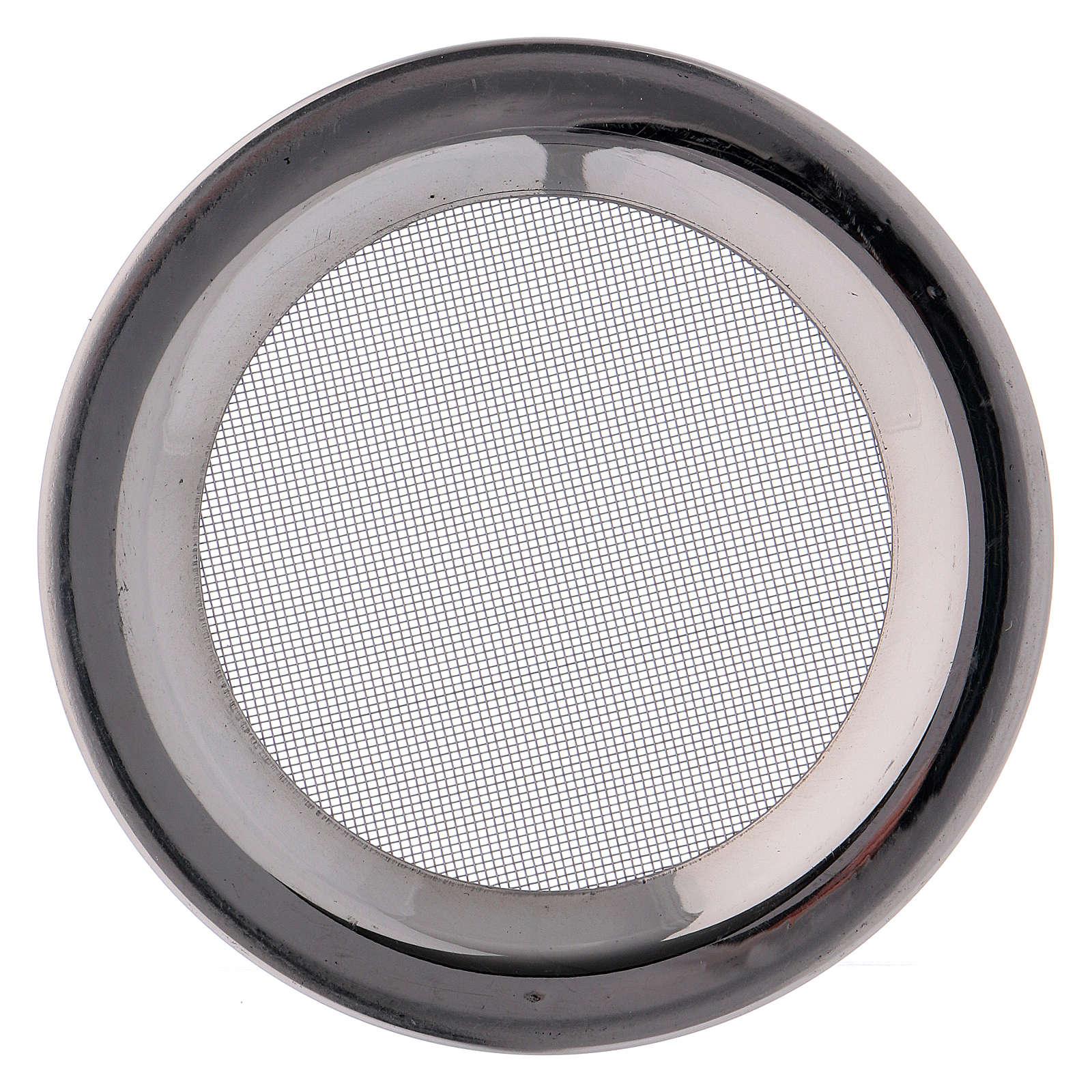 Ricambio retine bruciaincenso acciaio argentato d. 8 cm 3