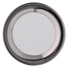 Ricambio retine bruciaincenso acciaio argentato d. 8 cm s2