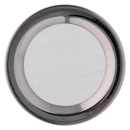 Ricambio retine bruciaincenso acciaio argentato d. 8 cm 2