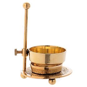 Incense burner in gold-plated brass 11 cm s3
