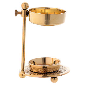 Incense burner in gold-plated brass 11 cm s4