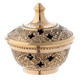 Queimadores de Incenso: Queimador de incenso latão dourado 7 cm