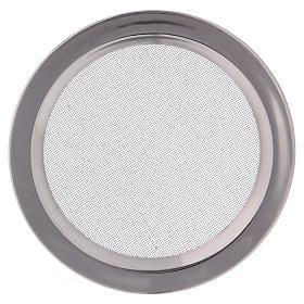 Brule-encens: Pièce de rechange grille brûleur encens acier argenté brillant diam. 12 cm