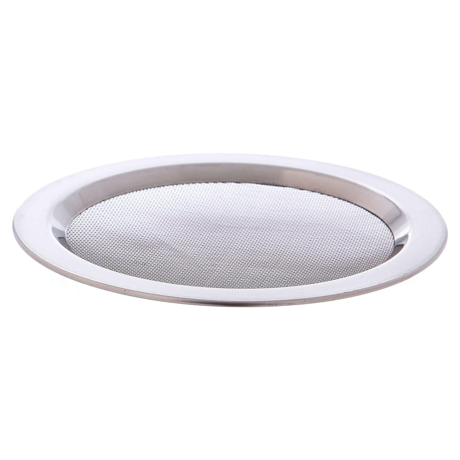 Spare net for incense burner silver-colored polish steel diam. 4 3/4 in 3