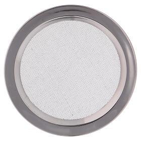 Spare net for incense burner silver-colored polish steel diam. 4 3/4 in s1