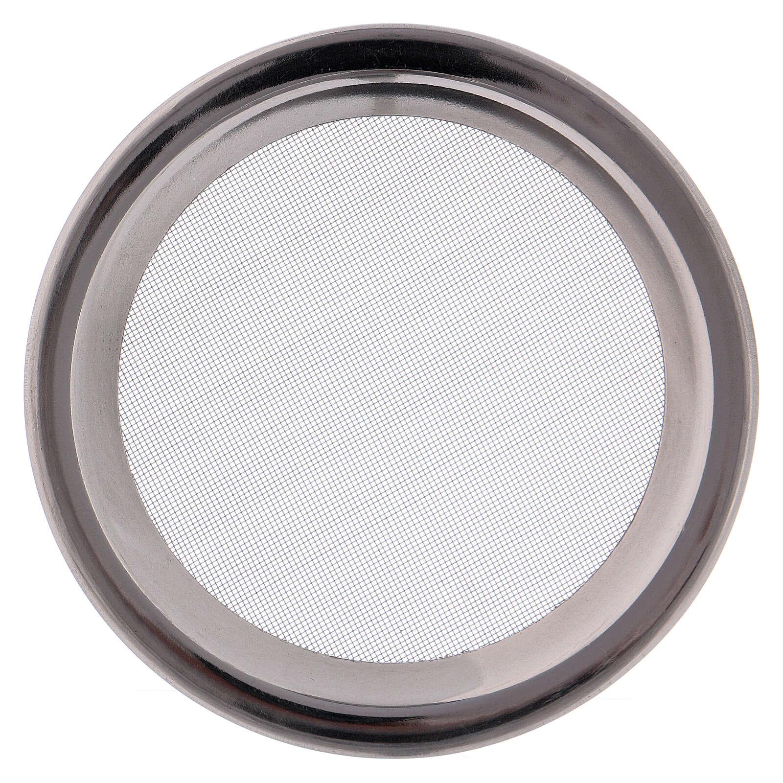 Spare net for incense burner silver-colored polish steel diam. 3 3/4 in 3