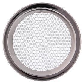 Spare net for incense burner silver-colored polish steel diam. 3 3/4 in s1