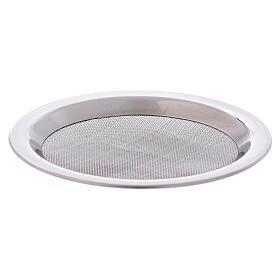 Spare net for incense burner silver-colored polish steel diam. 3 3/4 in s2