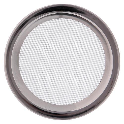 Spare net for incense burner silver-colored polish steel diam. 3 3/4 in 1
