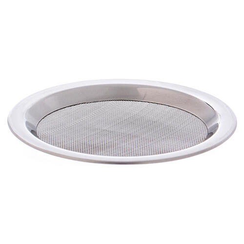 Spare net for incense burner silver-colored polish steel diam. 3 3/4 in 2