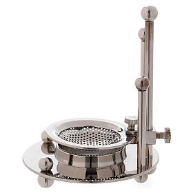 Incense burner in nickel-plated brass removable net s4