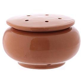Queimadores de Incenso: Queimador incenso em terracota vidrada castanho Deruta