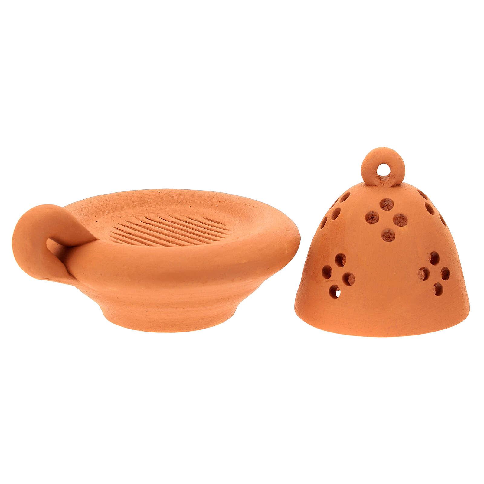 Bruciaincenso arancione in terracotta 3