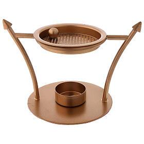 Incense burner in gold plated brass 2 3/4 in s1