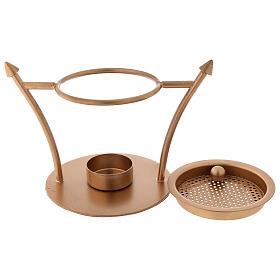 Incense burner in gold plated brass 2 3/4 in s2