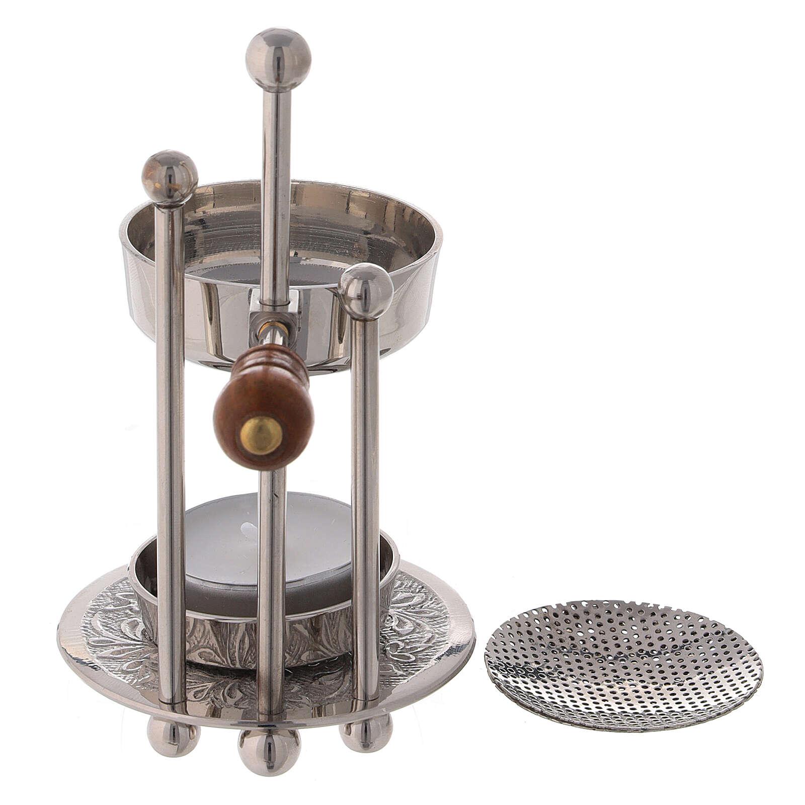 Height-adjustable incense burner 5 in three columns wood handle 3
