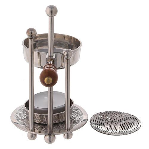 Height-adjustable incense burner 5 in three columns wood handle 4