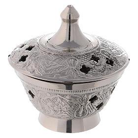 Brûle-encens décoré style oriental laiton diamètre 8 cm s1