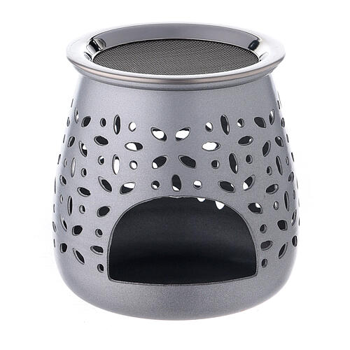 Kadzielniczka aluminium satynowane 8 cm otwory 1