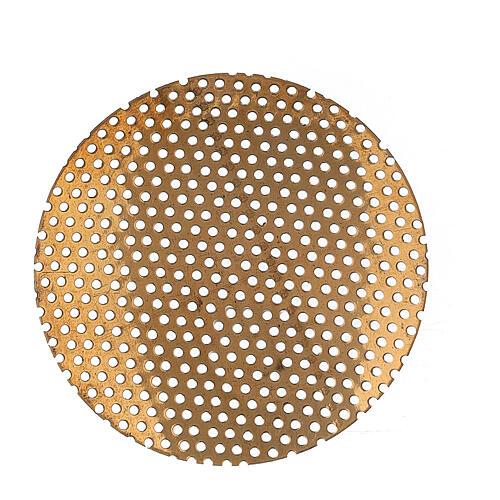 Grelha de latão dourado peça sobressalente para queimado de incenso, 5 cm 1