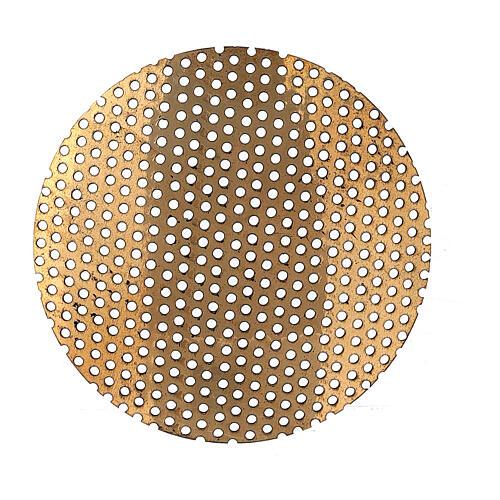 Grelha de latão dourado peça sobressalente para queimado de incenso, 5 cm 2