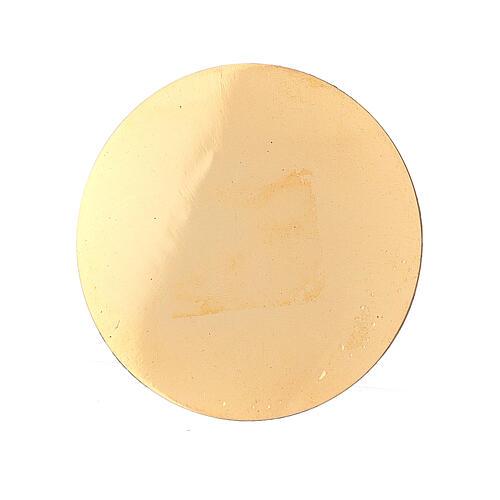 Piattino bruciaincenso ricambio 5 cm ottone dorato 1