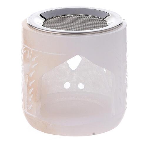 Brûle-encens pierre ollaire cylindre 6 cm ajouré 1
