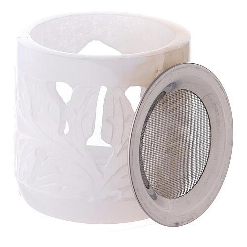 Brûle-encens pierre ollaire cylindre 6 cm ajouré 3