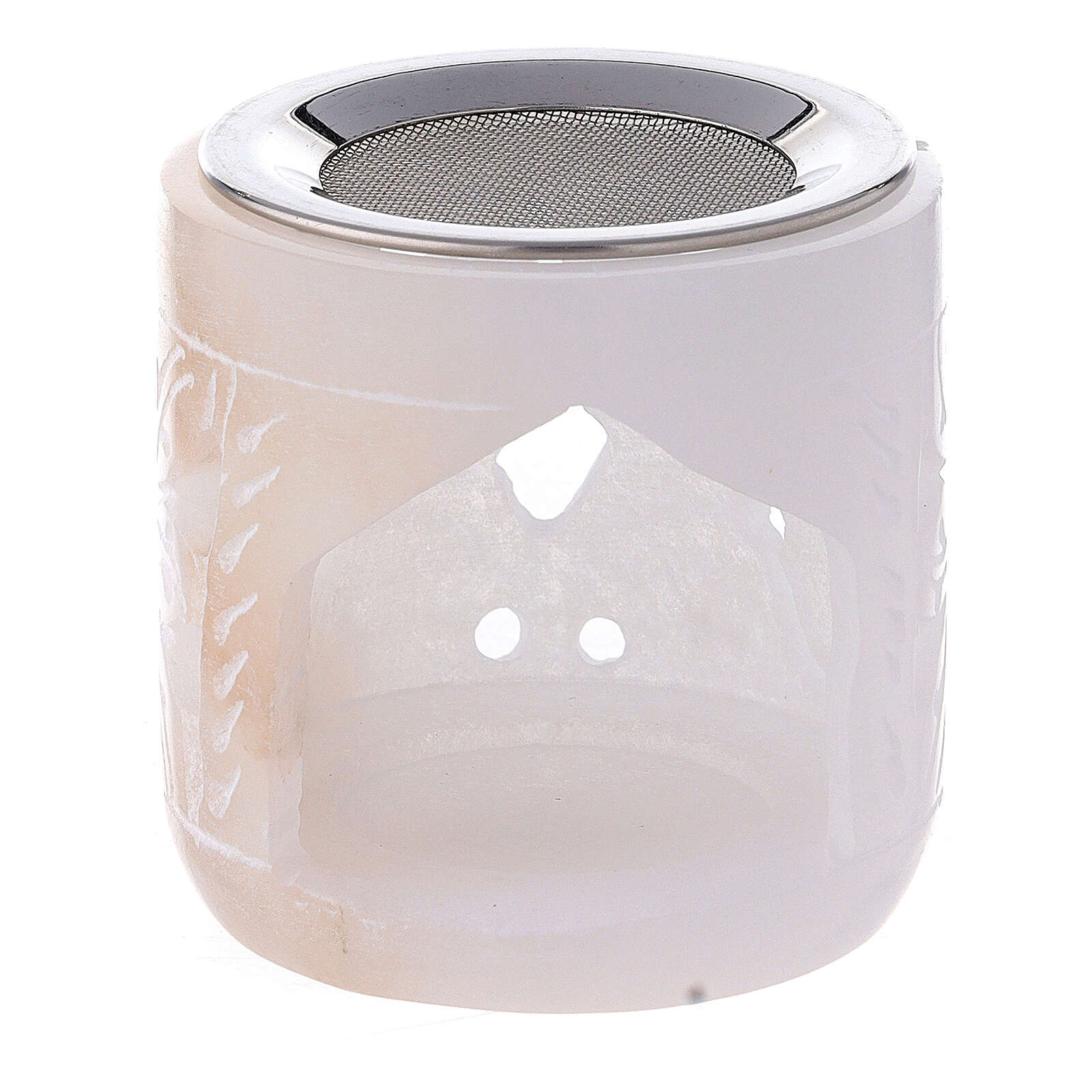 Bruciaincenso pietra ollare cilindro 6 cm traforato 3