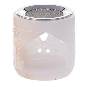Bruciaincenso pietra ollare cilindro 6 cm traforato s1