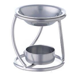 Bruciaincenso candelina ferro argento supporto curvo s1