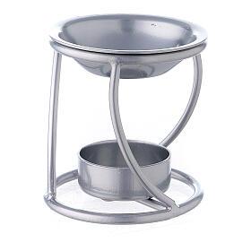 Bruciaincenso candelina ferro argento supporto curvo s2