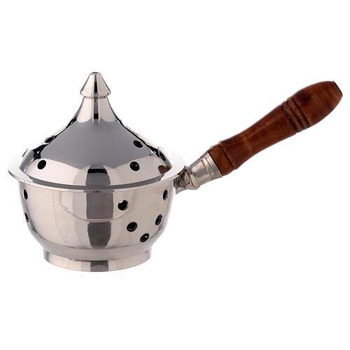 Oriental incense burner wood handle 1