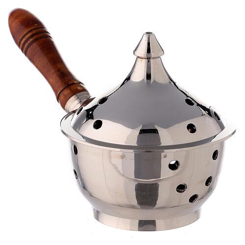Oriental incense burner wood handle 2