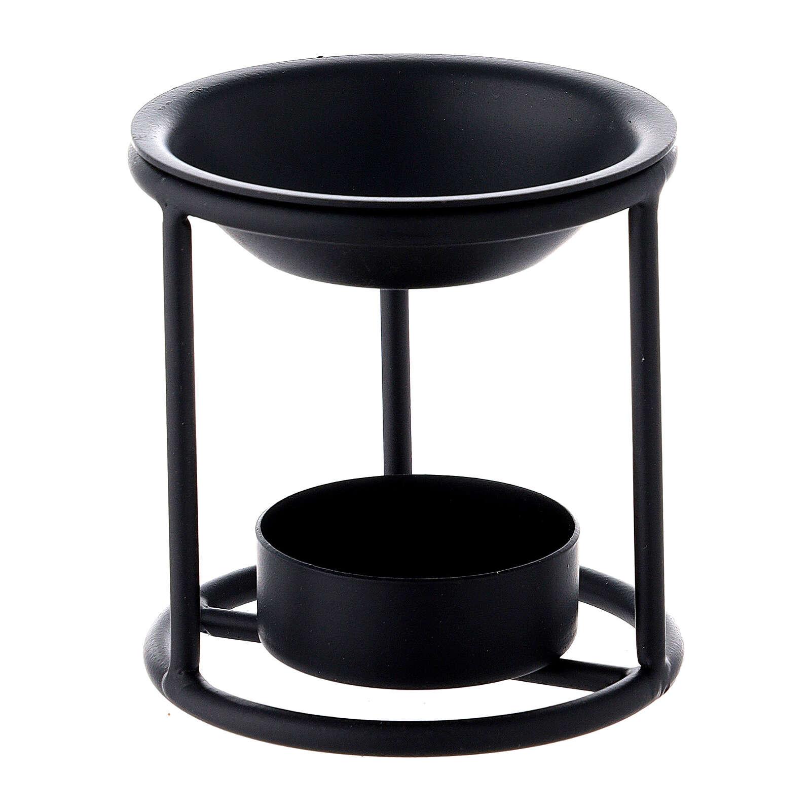 Pebetero hierro negro vela 7 cm 3