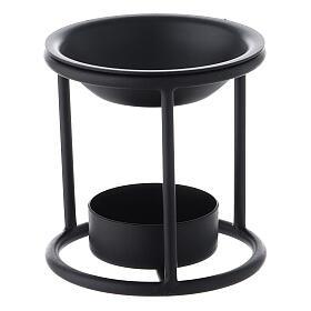 Pebetero hierro negro vela 7 cm s2
