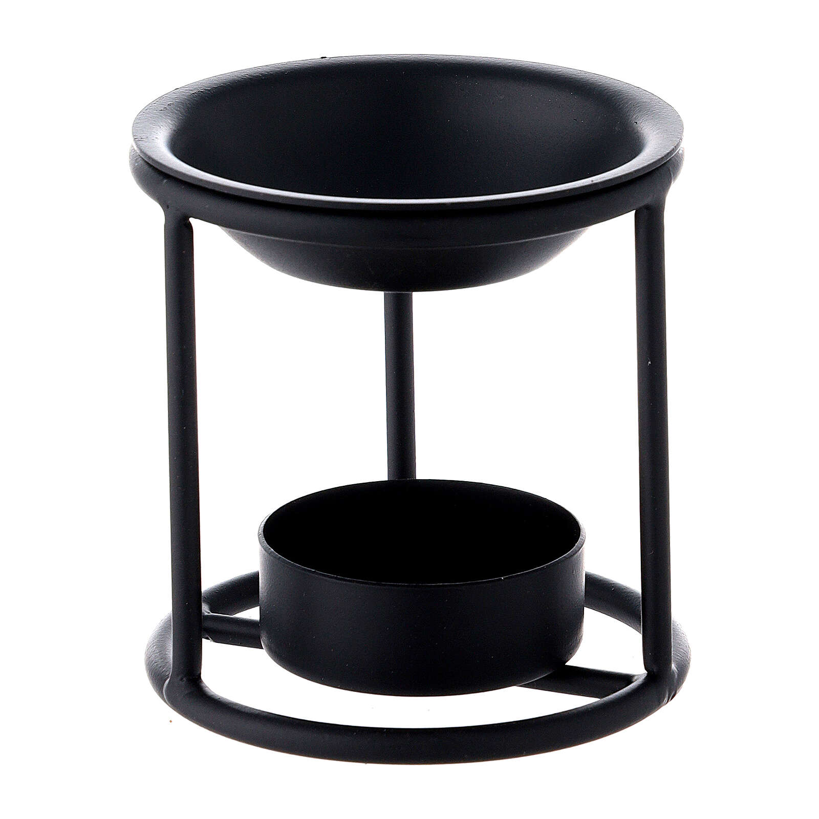 Bruciaincenso ferro nero candelina 7 cm 3