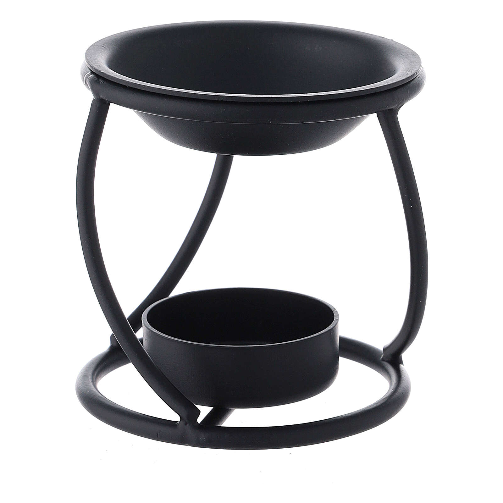Pebetero hierro negro espiral vela 7 cm 3