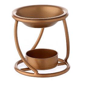 Bruciaincenso ferro dorato spirale candela 7 cm s1