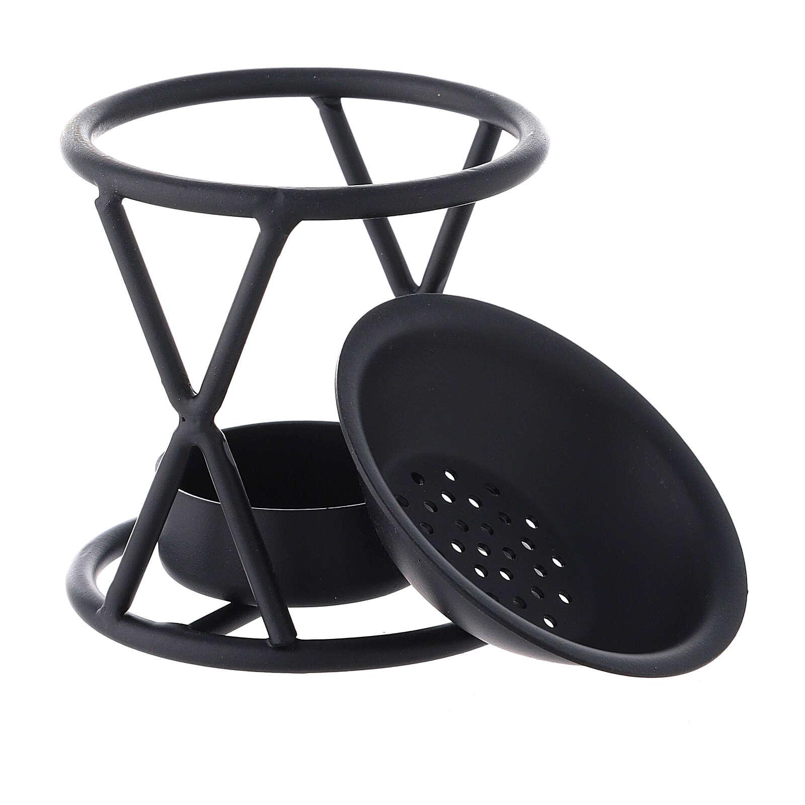 Bruciaincenso ferro nero X h 7 cm 3